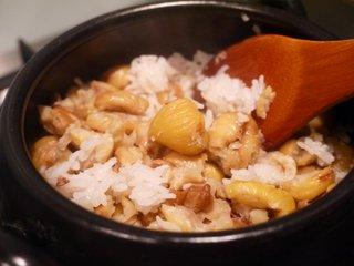 Kuri-gohan cooked
