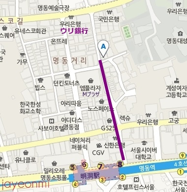 about me_アバウトミー_明洞_map