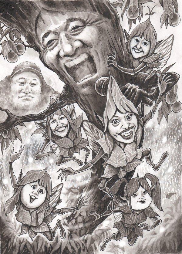 ももいろクローバーZ、松崎しげる masahiro.tanaka 風刺漫画