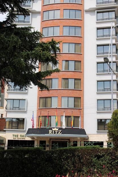 ボリビア・ペルー旅行:ラパス リッツアパートホテル
