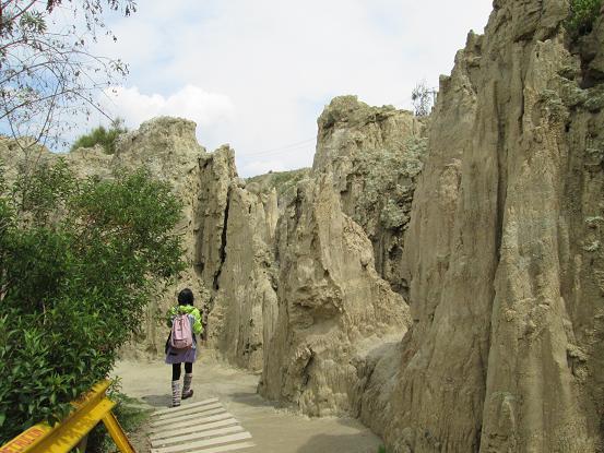 南米旅行:ボリビア・ラパス 月の谷 歩く