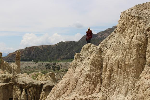 ボリビア・ペルー旅行:月の谷 ケーナおじさん
