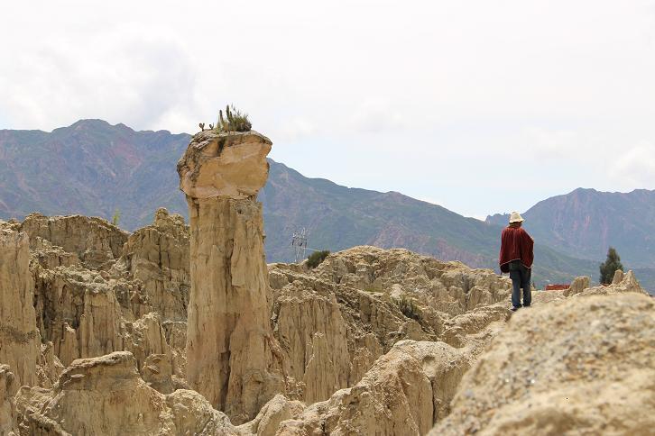 ボリビア・ペルー旅行:月の谷 ケーナおじさん2