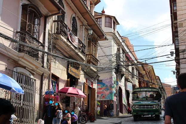 ボリビア・ペルー旅行:ラパス旧市街 サガルナガ通り 買い物2