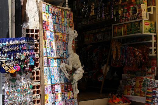 ボリビア・ペルー旅行:ラパス旧市街 魔女通り リャマのミイラ