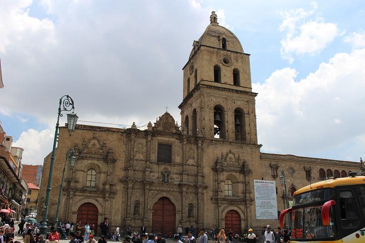 ボリビア・ペルー旅行:ラパス旧市街 サンフランシスコ寺院
