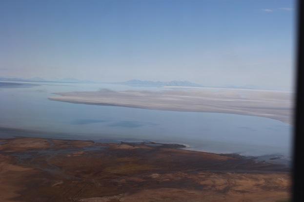 ボリビア・ペルー旅行:ウユニ塩湖 飛行機 眺め2