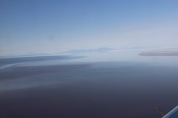 ボリビア・ペルー旅行:ウユニ塩湖 飛行機 眺め3