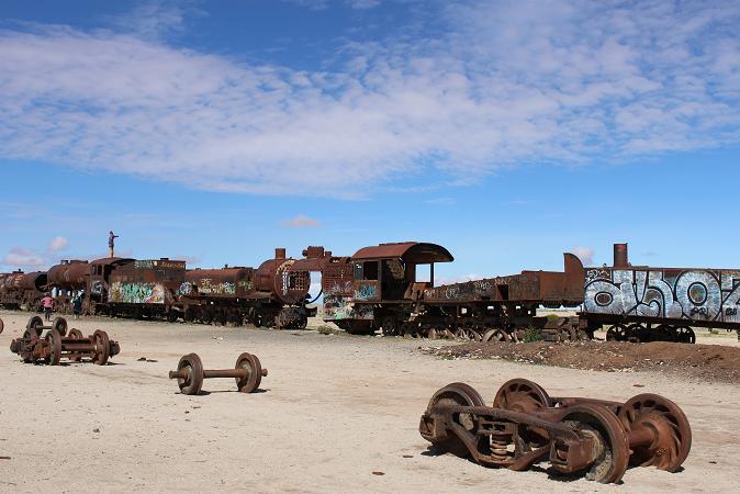 ボリビア・ペルー旅行:列車の墓場