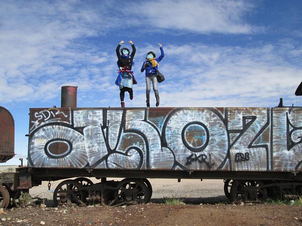 南米旅行:列車の墓場 ジャンプ
