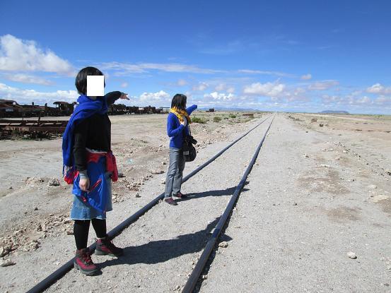 南米旅行:列車の墓場 線路2