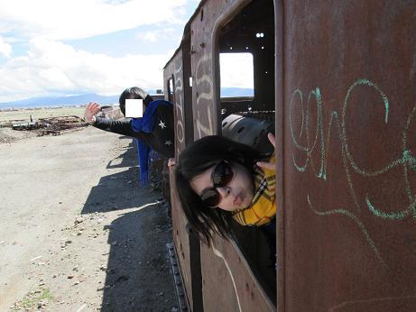 南米旅行:列車の墓場 窓2