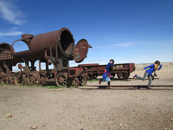 南米旅行:列車の墓場 逃走中