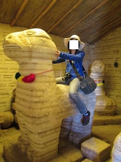 南米旅行:コルチャニ村 塩の博物館 塩像