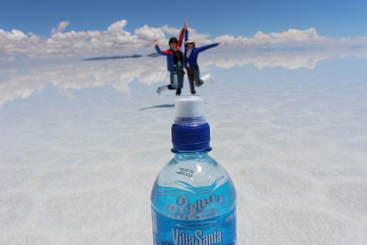 ボリビア・ペルー旅行:ウユニ塩湖 ペットボトル2