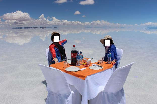 ボリビア・ペルー旅行:ウユニ塩湖 昼食