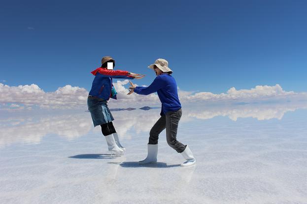 ボリビア・ペルー旅行:ウユニ塩湖 カメハメ波2