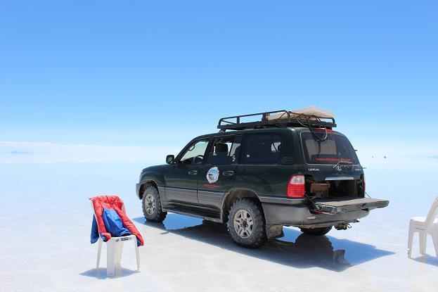 ボリビア・ペルー旅行:ウユニ塩湖 着替え中