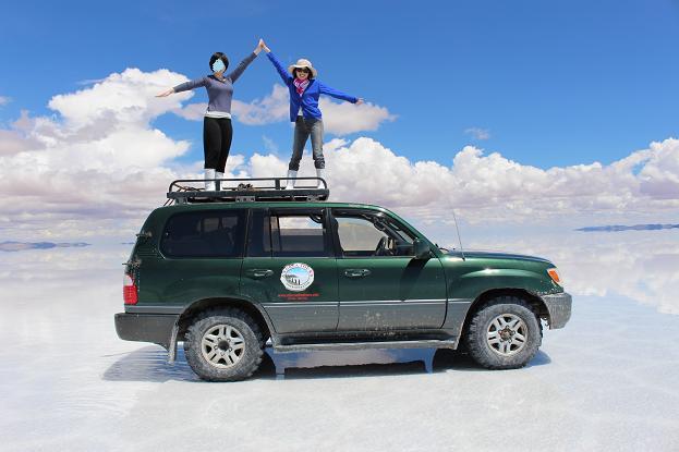 ボリビア・ペルー旅行:ウユニ塩湖 4WD 荷台 2人