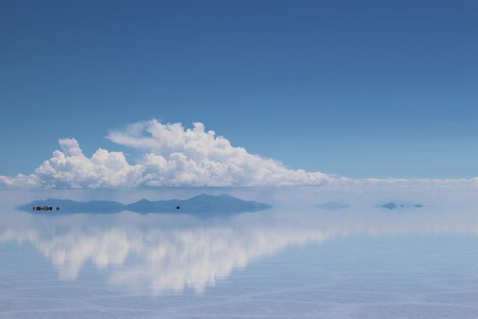 ボリビア・ペルー旅行:ウユニ塩湖 雲 山