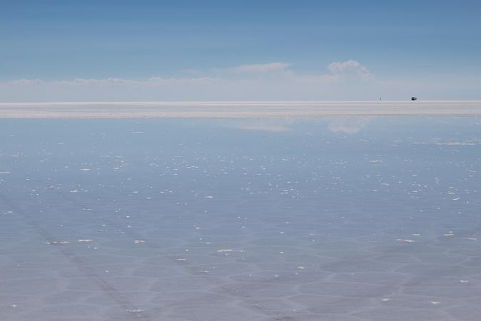 ボリビア・ペルー旅行:ウユニ塩湖 4WD 荷台 1人 塩