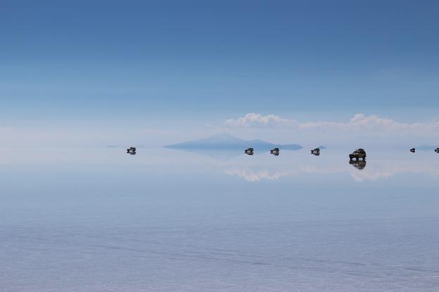 ボリビア・ペルー旅行:ウユニ塩湖 4WD 荷台 4WD達