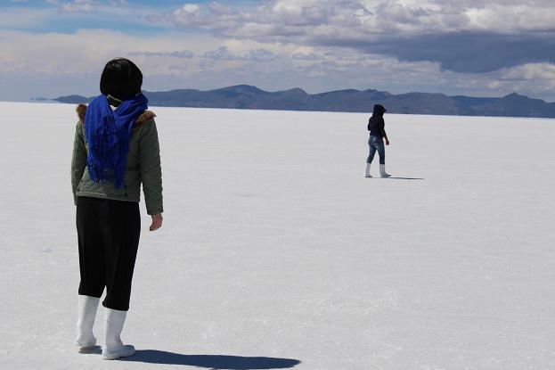 ボリビア・ペルー旅行:ウユニ塩湖 塩のクリスタル採り