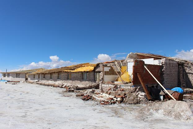 ボリビア・ペルー旅行:ウユニ塩湖 塩の建物