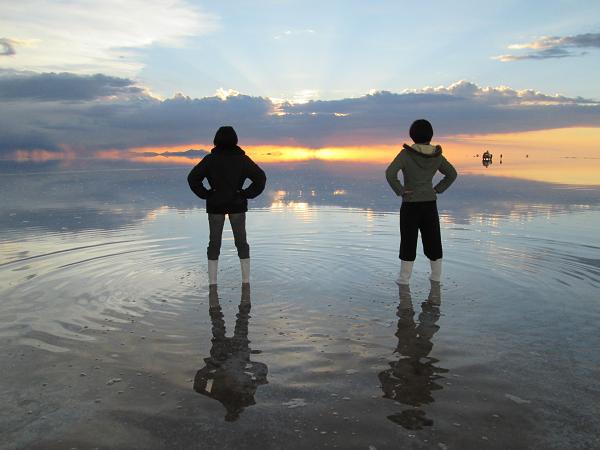 南米旅行:ウユニ塩湖 サンセット