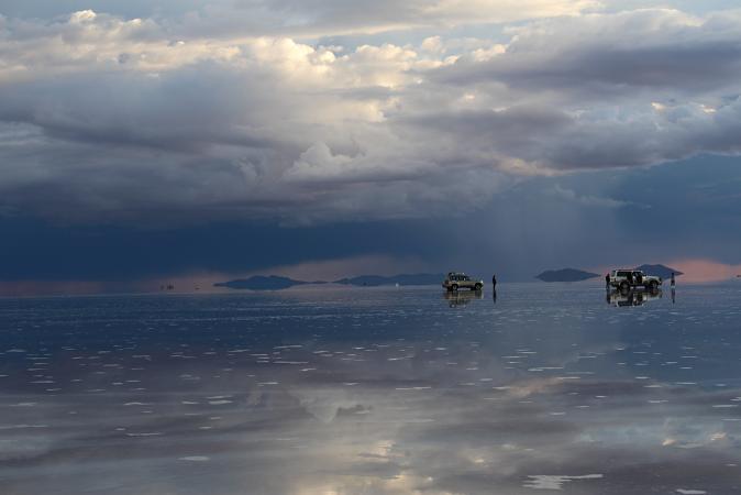 ボリビア・ペルー旅行:ウユニ塩湖 サンセット 雲