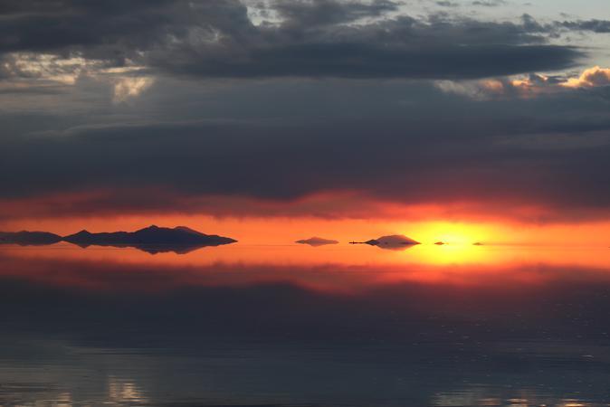 ボリビア・ペルー旅行:ウユニ塩湖 サンセット 終盤