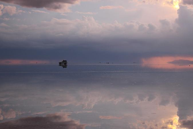 ボリビア・ペルー旅行:ウユニ塩湖 サンセット 終了