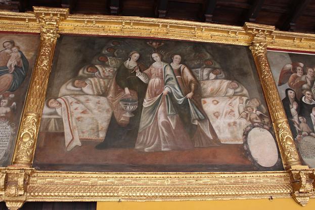ボリビア・ペルー旅行:クスコ市内 サンドドミンゴ教会 フラスコ絵