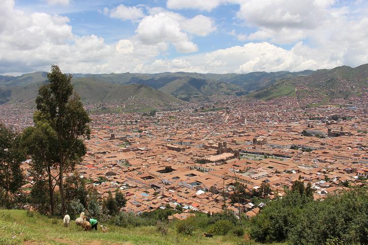 ボリビア・ペルー旅行:クスコ市内 眺望