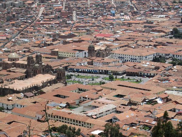 南米旅行:クスコ アルマス広場