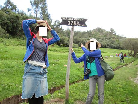 南米旅行:クスコ タンボマチャイ 標高