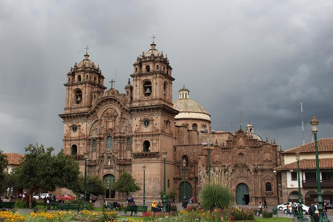ボリビア・ペルー旅行:アルマス広場 ラ・コンパニーア・デ・ヘスス教会