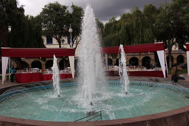 ボリビア・ペルー旅行:クスコ市内 噴水2