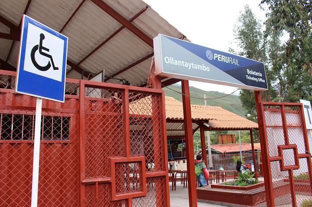 ボリビア・ペルー旅行:オリャンタイタンボ駅