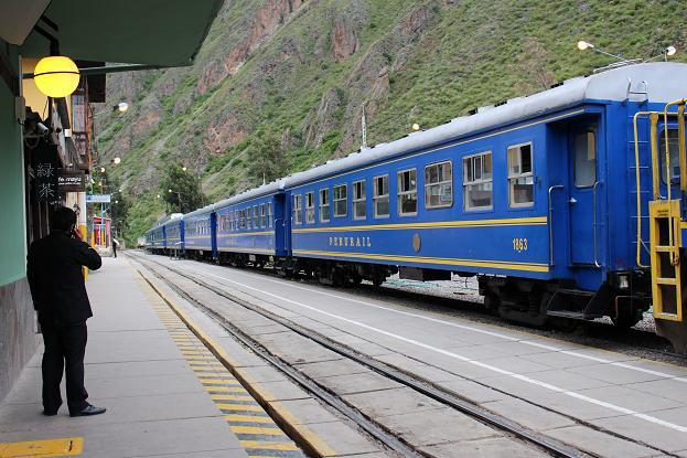 ボリビア・ペルー旅行:オリャンタイタンボ駅 構内