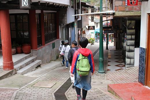 ボリビア・ペルー旅行:マチュピチュ村 坂2