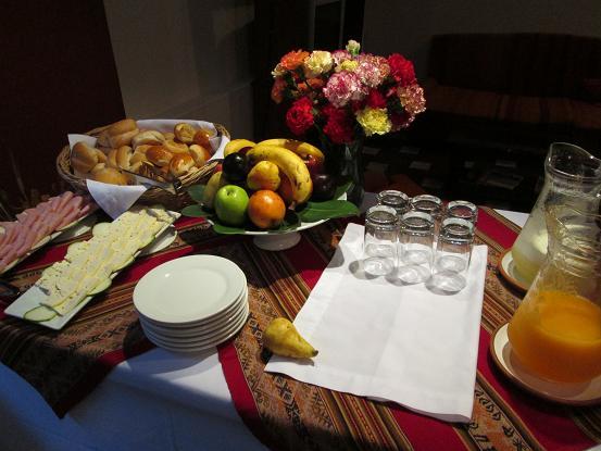 南米旅行:インティ ウニャイワイナ 朝食
