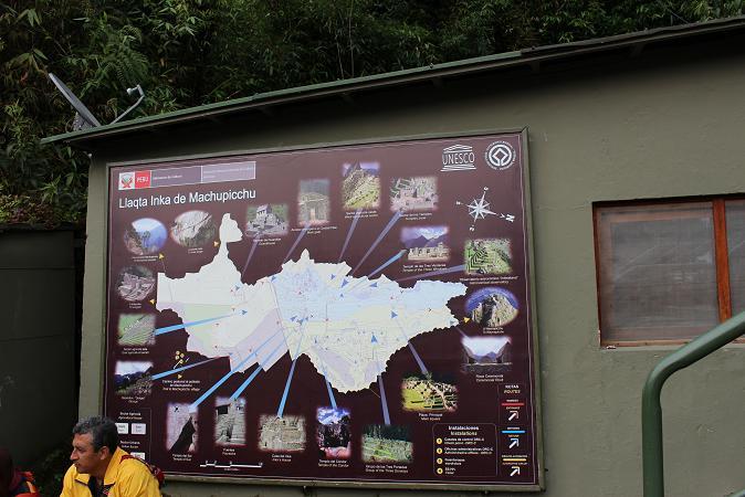 ボリビア・ペルー旅行:マチュピチュ遺跡 マップ