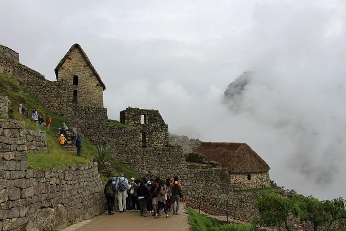 ボリビア・ペルー旅行:マチュピチュ遺跡 靄2