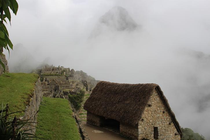 ボリビア・ペルー旅行:マチュピチュ遺跡 靄3
