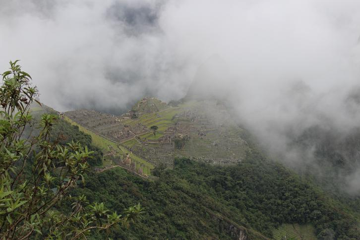 ボリビア・ペルー旅行:マチュピチュ遺跡 望遠
