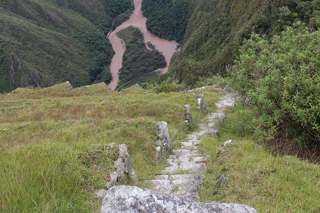 ボリビア・ペルー旅行:マチュピチュ遺跡 階段