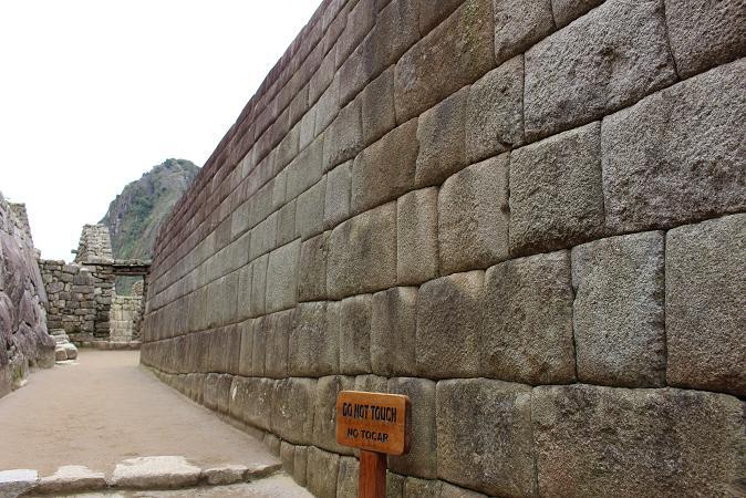 ボリビア・ペルー旅行:マチュピチュ遺跡 壁