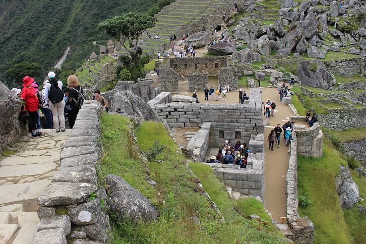 ボリビア・ペルー旅行:マチュピチュ遺跡 聖なる広場