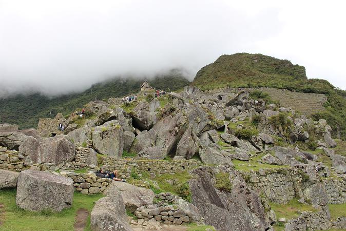 ボリビア・ペルー旅行:マチュピチュ遺跡 石切り場